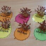 jesienne jeżyki wykonane przez dzieci