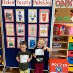 Dzień Poczty Polskiej-tablica z obrazkami