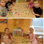 Dzieci układające puzzle
