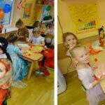 Dzieci wykonują maski karnawałowe