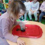 Dziewczynka dmucha bańki mydlane