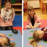 dzieci układają poszkodowanego