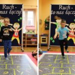Dzieci bawiące się w klasy na macie w sali przedszkolnej
