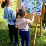 Dzieci malują Wiosenny pejzaż