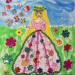 Praca plastyczna w wykonaniu dzieci nt. Kolorowe stroje Pani Wiosny (1)