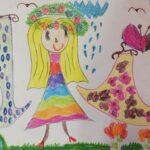 Praca plastyczna w wykonaniu dzieci nt. Kolorowe stroje Pani Wiosny (3)