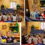 Zabawy dzieci z grupy Biedronek pacynkami
