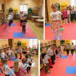 Zabawy ruchowe dzieci z grupy Biedronek