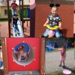 Dzieci bawia się na placu zabaw