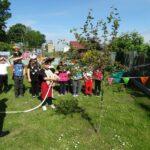 Strażacy z przedszkolakami