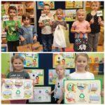 Dzieci z planszami i torbami