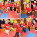 Zabawy muzyczno-ruchowe dzieci z grupy Biedronek