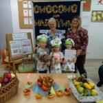 Podziękowania dla gościa za wizytę i wspólne owocowo-warzyne smakowanie z babcią